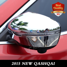 Free Shipping ABS Side Door Mirrors Rearview Cover 2pcs/set For NEW QASHQAI 2014- 2015 High Quality
