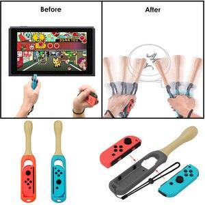 Image 4 - 14 In 1 Accessoires Voor Nintend Schakelaar Controller Grip Wielen Tennisracket Drum Stick Voor Taiko Soft Case Voor Nintendo schakelaar