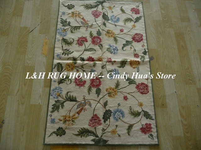 Free Shipping 2 5 X4 Small Carpets Woolen Needlepoint Rugs Stunning Fl Design Very