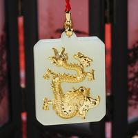 New Arrival 2018 3D Dragon Jade Good Quality Pendant On Hot Sales Men Women Necklace Gift Jewelry