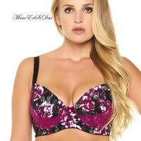 New Floral Print Bralette Push Up Bra Lace Bralette Soutien Gorge Bra Big Size Bras For