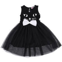 2017 Infant Toddler Baby Kids Girl Black Pageant Costume Cat Tutu Princess  Wedding Party Dress 2-7year d835fd6ff370