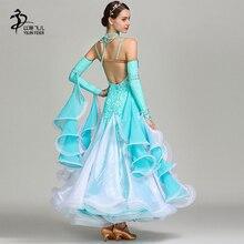 56f731c0be 2019New konkurs tańca towarzyskiego sukienka kobiety Waltz sukienka  standardowy nowoczesny taniec wydajność kostiumy