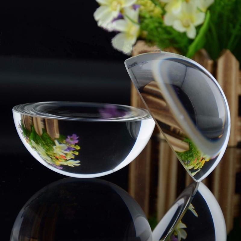 1 komad 80mm prozirna polovina stakla kugla kristal globus feng shui paperweight minijaturni za poklone ukrasi za dom