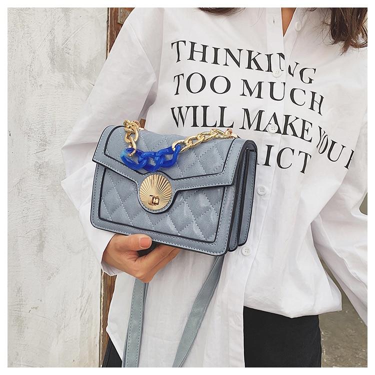 Women's Designer Luxury Channels Bags Shoulder Handbag for Women Quilted Leather Crossbody Flap Bag Fashion PU Lock Tote Handbag (3)