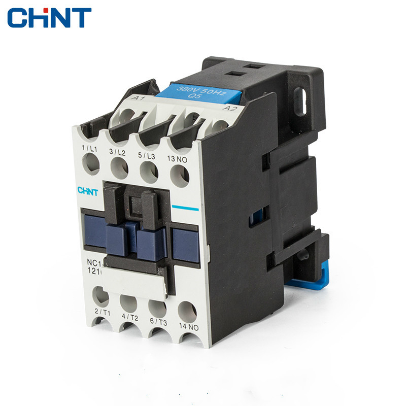 CHINT Ac Contactor Electrical CJX2 LC1 NC1-1210 Ac220V Communication 220V 380V 110V Contator Din Rail Mount cjx2 lc1 1210 25a 220v 660v ac contactor black white