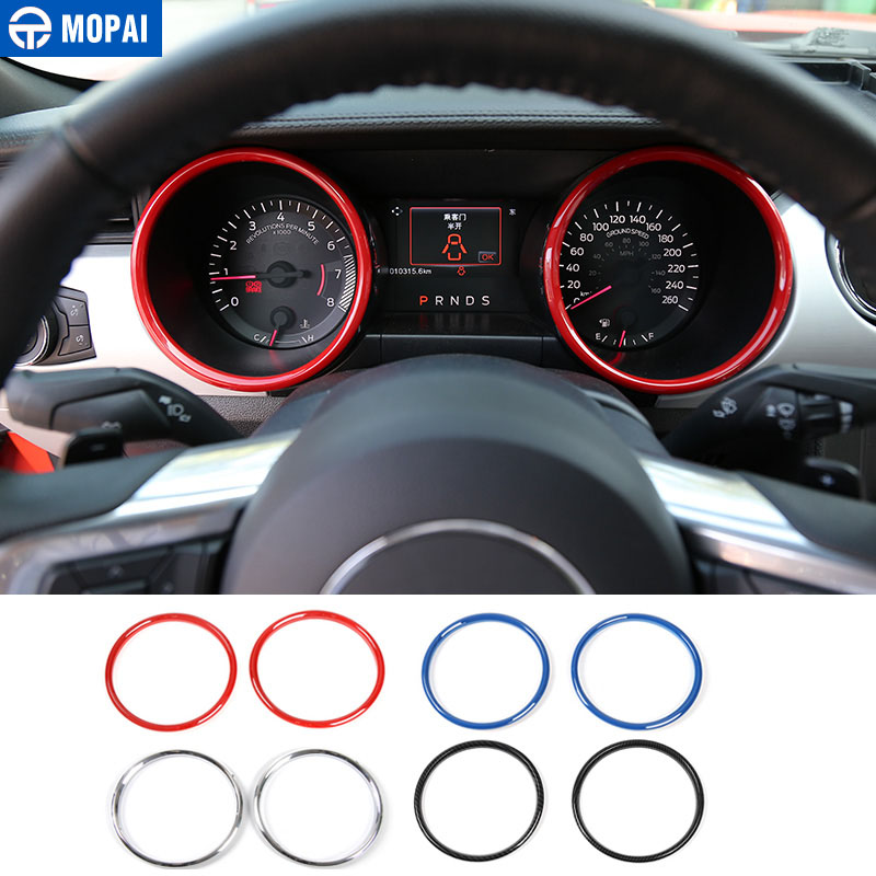 MOPAI ABS Car Interior Instrument Panel Dashboard Decoration Ring Cover Trim Stickers For Ford Mustang 2015 Up Car Styling цена