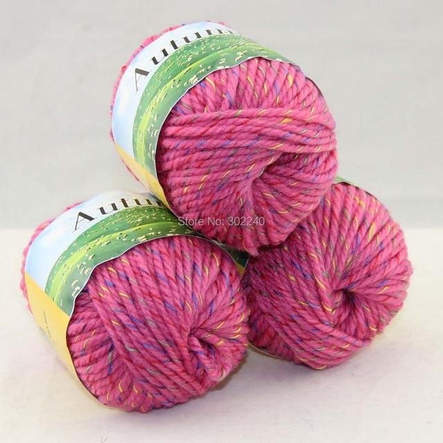 Knitting Rose Yarns : Lot of ballsx g chunky hand woven coarse knitting yarn