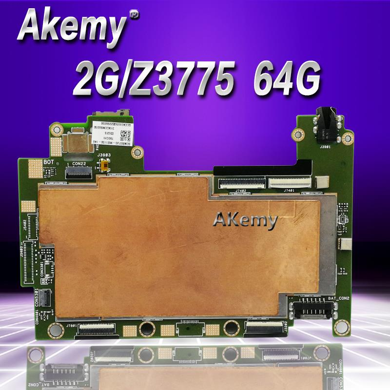 Akemy T90CHI tablet motherboard  With 64GB SSD 2G RAM /Z3775  For Asus TransBook T90CHI T90 Mainboard logic board System BoardAkemy T90CHI tablet motherboard  With 64GB SSD 2G RAM /Z3775  For Asus TransBook T90CHI T90 Mainboard logic board System Board