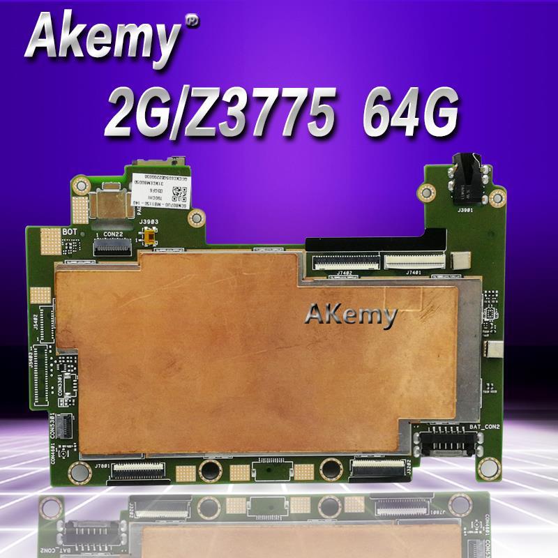 Carte mère de tablette Akemy T90CHI avec 64 GB SSD 2G RAM/Z3775 pour Asus TransBook T90CHI T90 carte mère carte mère