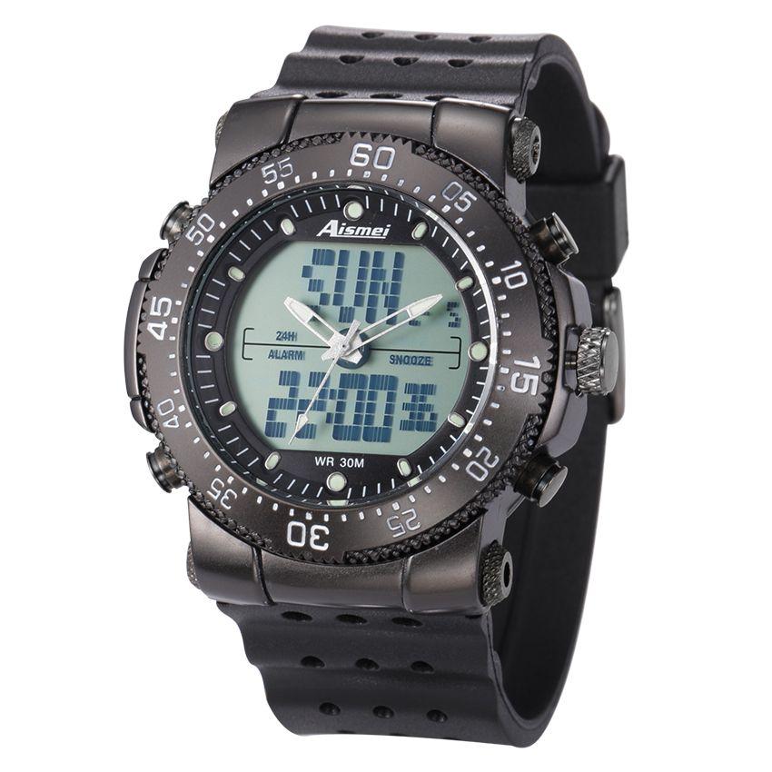 6af5558d5e380 Aismei أحدث عالية الجودة ساعة رقمية Waterproo... لنا  7.99. Aismei جديد للماء  الرياضة الساعات للرجال تكتيك.