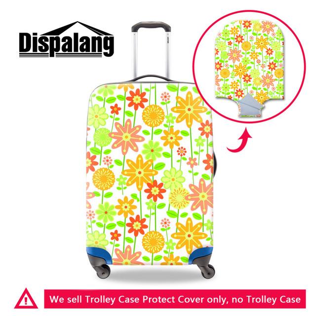 Dispalang design criativo bagagem tampas de proteção para 18-30 polegada flor ilustração viagem bagagem mala trolley protetor