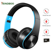YEINDBOO Wireless Bluetooth Headset  Support TF Active Noise Cancelling Headphones With Microphone For Phones And Music