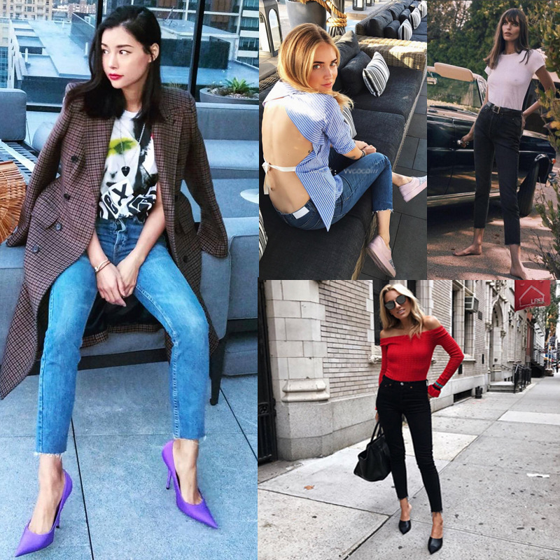 New Brand Design Women Retro Fashion High Waisted Flashes Skinny Jeans Pants 2018 Fur Wizard Mom Boyfriend Denim Pants women jeans autumn new fashion high waisted boyfriend street style roll up bottom casual denim long pants sp2096
