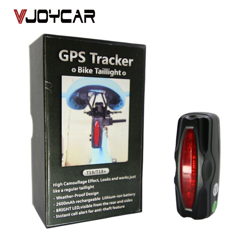 VJOYCAR T19 GPRS GSM GPS Tracker Велосипед күту режимі 90Days Bike Anti Theft Motion Alert Speed ​​Alarm Тегін Tracking Platform APP