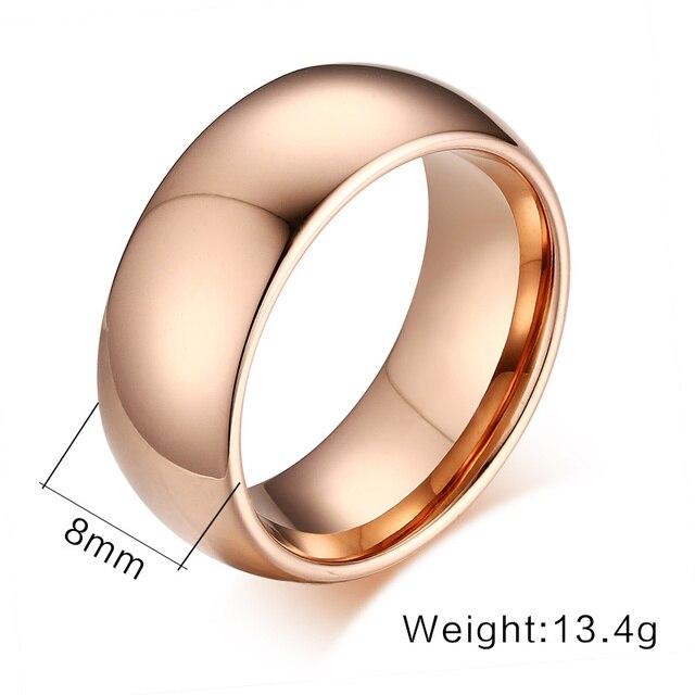 Vnox 100% Tungsteno Anello per Gli Uomini 8mm Wedding Classic Monili Liscio Lucidatura a mano US 6 7 8 9 10 11 12 13
