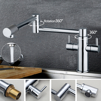 Water Tap New Brand Swivel Spout 2014 Sink Kitchen Faucets 8528 1 Basin Chrome Tap Vessel