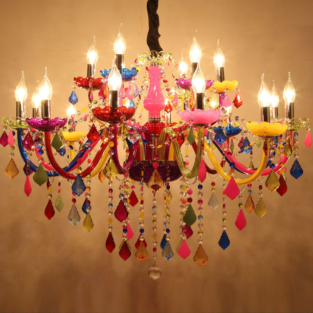 Online Shop Modern Chandeliers LED Crystal Lighting Bohemia Colorful