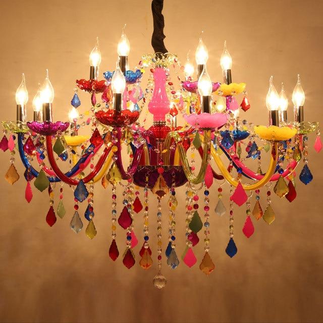 Online shop modern chandeliers led crystal lighting bohemia colorful modern chandeliers led crystal lighting bohemia colorful chandelier lustres de cristal decorative lamps pendant lamp aloadofball Gallery