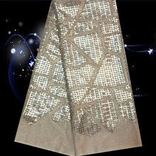 Item No.SSN26  high quality african tulle lace fabric with sequins ON SALE free shipping