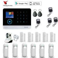 Yobang Security Wireless Home Security WIFI 2G GPRS GSM Alarm System APP Remote Control RFID Burglar
