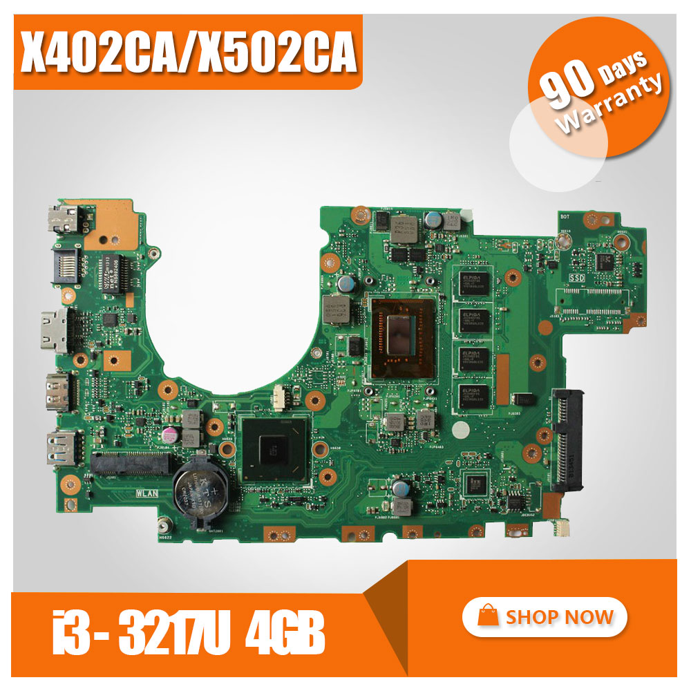 for ASUS X502CA X402CA REV2.1 8pcs video card Laptop Motherboard I3CPU mainboard 60NB0010-MB5058 100% test