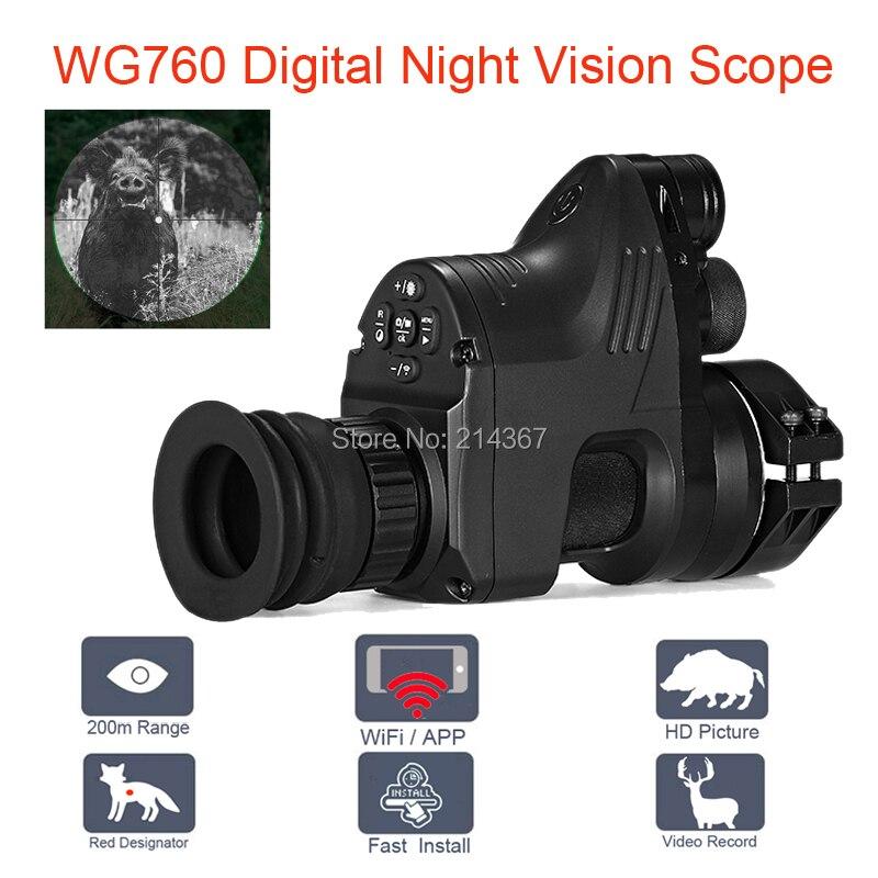 WG760 5 Вт ИК инфракрасный цифровой Ночное Видение телескоп с Wi-Fi приложение 1080 P HD NV прицел Ночное видение оптики взгляд Лидер продаж