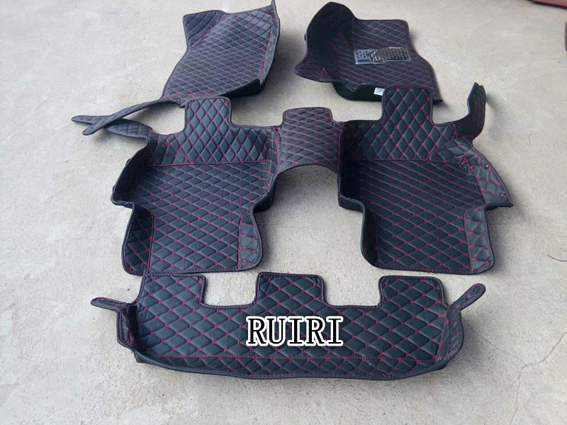 Best quality! Custom special floor mats for Right Hand Drive KIA Mohave 7 seats 2017-2008 Easy to clean carpets,Free shipping