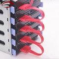 PC Компьютер DIY 4-контактный IDE Molex 1 до 5 Pin SATA Splitter Жесткого Диска Кабель Питания Шнур 18AWG Красный