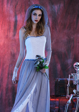 Women Purim Ghost Bridal Cosplay 2016 Halloween costume Zombie Corpse Bride Dress Female Wear scary costumes