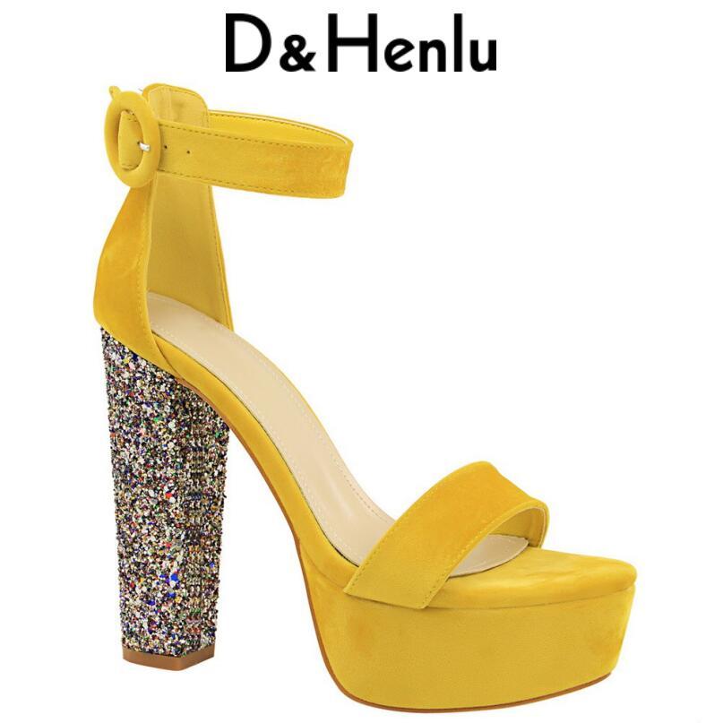 D&Henlu 2018 Women's Sandals High Heels Shoes Platform Women Shoes Ankle Strap High Heels Sandals Sexy Ladies Sandal With Heels brand new strap high heels sandals women sandals with platform footwear woman evening shoes women sexy ladies shoes