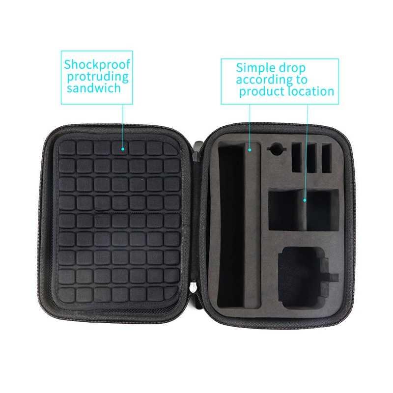 متعددة الوظائف المحمولة حقيبة التخزين للماء حمل حقيبة الرياضة كاميرا صندوق تخزين للصدمات حقيبة ل Dji Osmo عمل الرياضة