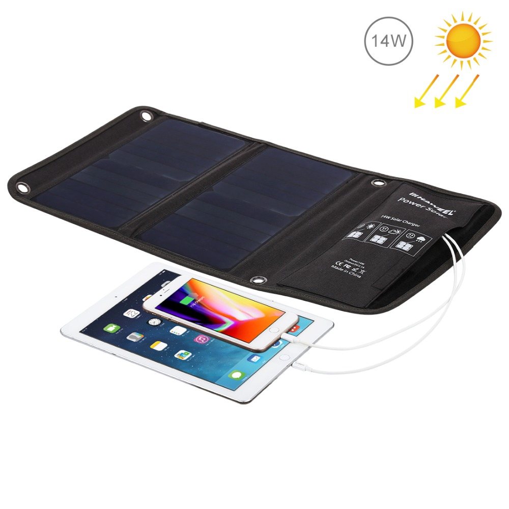 HAWEEL 14W 21W 28W Portable Solar Charger for Mobile Phone Camping Travel Foldable Solar Panel Charger with Dual USB Ports allpowers 18v 21w usb solar power bank camping travel folding foldable outdoor usb solar panel charger for mobile phone laptop