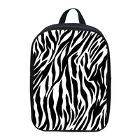 12-Inch Beautiful Style Zebra-Strip Print  Boy School Backpack And Girl School Bags For 1 - 6 Ages  Kids Backpack  xq153