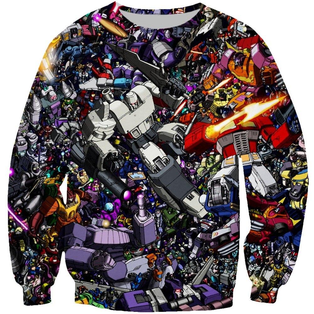 New Fashion Mech Transformers Battle Collage 3d Printed Hoodie For Women Men Zipper Hoodies/Sweatshirt Baseball Button Tee Tops hoodie