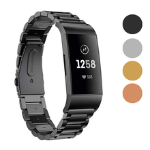 Fashion Metal Correa Wriststrap for Fitbit Charge 3 Fitness Bracelet Wrist Strap Fit bit Band Sports Watch Smart Accessories