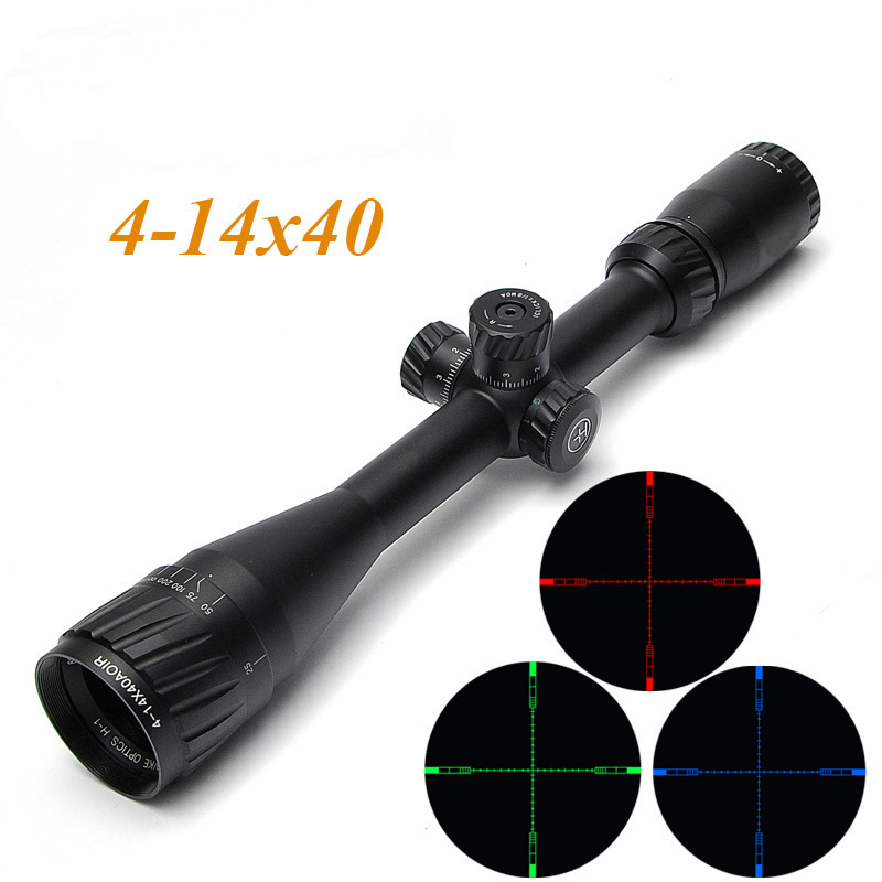 HAVVKE 4-14X40 AOIR Hunting Scopes Tactical Optical Riflescope Hawke 1/2 Mil Dot Reticle Sight For Airgun Air Rifle joufou 4 16x40aol tactical rifle scope optical sights full size mil dot rgb llluminate wire reticle hunting riflescope for rifle
