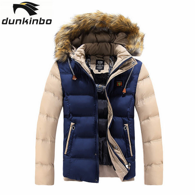 Mens Winter Jackets Men's Thick Parka With Removable Fur Hood Men Coat Winter Casual & Fit Thick Man Cotton Jacket A981