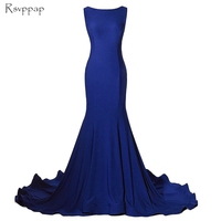 Long Evening Dress 2018 Mermaid Style New Arrival Sleeveless Backless Royal Blue Women Formal Evening Gowns