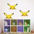 HOT Pokemon Adesivos Kawaii 18*11 cm Pokemon Pikachu Adesivo para a Parede carro Adesivo para Paredes Do Quarto DIY Crianças Brinquedos Presentes Livre navio