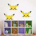 HOT Pokemon Stickers Kawaii 18*11cm Pokemon Pikachu Sticker for Wall Car Bedroom DIY Sticker for Walls Kids Toys Gifts Free Ship