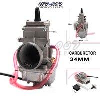 Carburetor vergaser Carb TM34 Flat Slide 34mm Carburetor Spigot TM34 2 42 6100 TM 34 rep FOR Mikuni honda 250 LT250