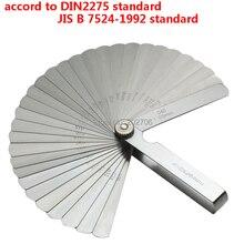 Нержавеющая сталь DIN стандарт 32 лезвия щупа метрический 0,02-1,00 мм зазор наполнитель Tune Up JIS стандартная толщина набор Gage