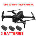 5G WiFi FPV RC Дрон GPS позиционирование X11 бесщеточные вертолеты 1080P камера точка интересного следования 3 батареи Квадрокоптер