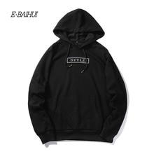 Фотография E-BAIHUI autumn men Hooded sweatshirts 2017 new hoodies and sweatshi coats brand clothing fashion male coat plus size S-XXL WY11