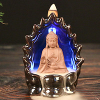 Buddhist Temple Supplies Of High Grade Ceramic Pour Handicraft LED Back Censer Smoked Present Creative Gifts