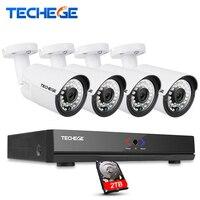 Techege 4CH 15V 48V 1080P PoE NVR 2 0MP IP Camera POE System Cloud 1080 NVR