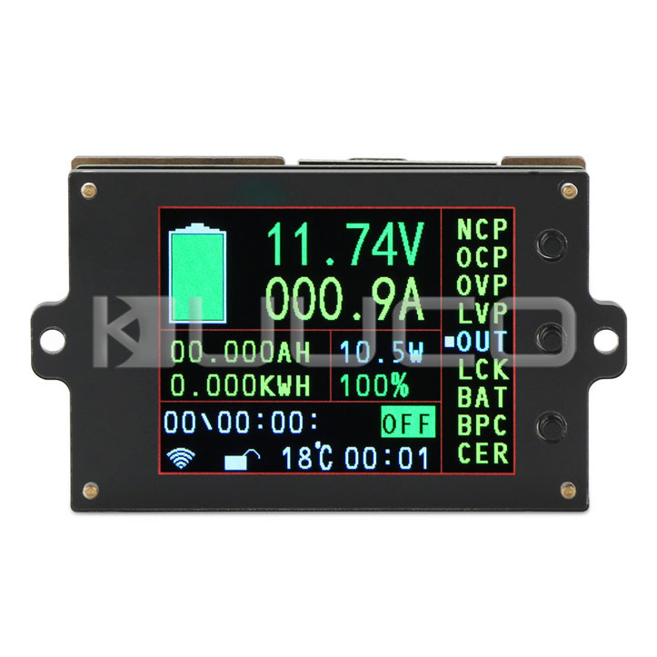 Digital Meter/Multifunction Panel Meter DC 6V~80V/300A/999 KW LCD Display Tester/Monitor Meter/Multimeter/Thermometer
