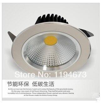 Бесплатная доставка 9 Вт 12 Вт теплый белый/холодный белый COB светодиодные светильники светодиодные лампы утопленный + LED Driver AC85V ~ 265 В