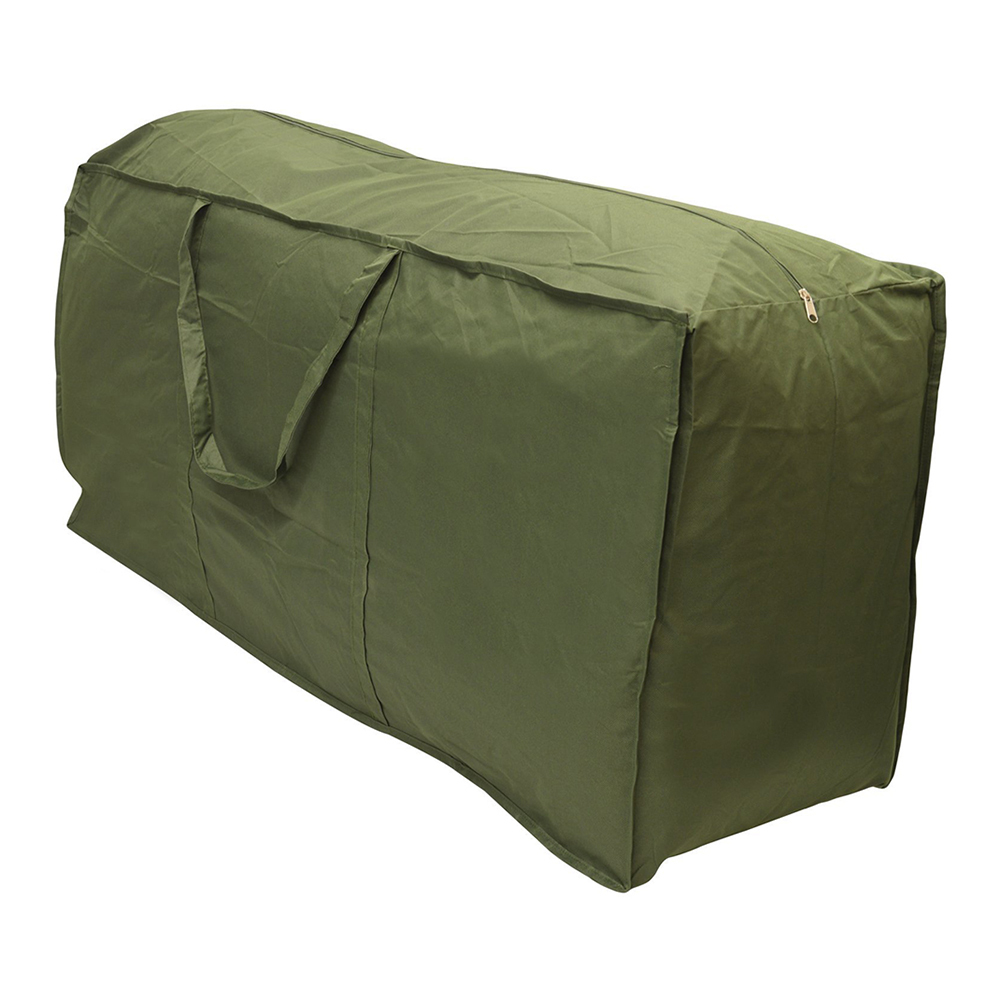 Army Green Patio Watcher Cushion Storage Bag Heavy Duty Zippered and Water Resistant Cov ...